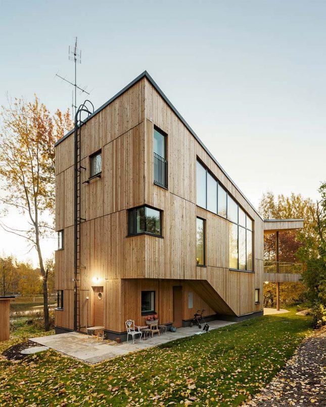 houten huizen apart appartement