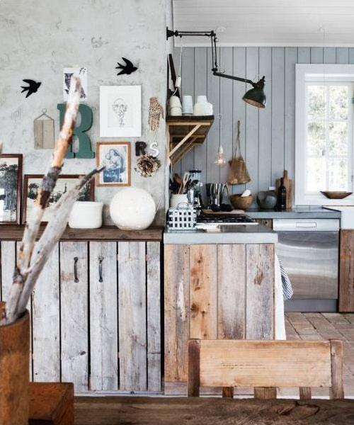 Houten keukens interieur inrichting - Oude en moderne keuken ...