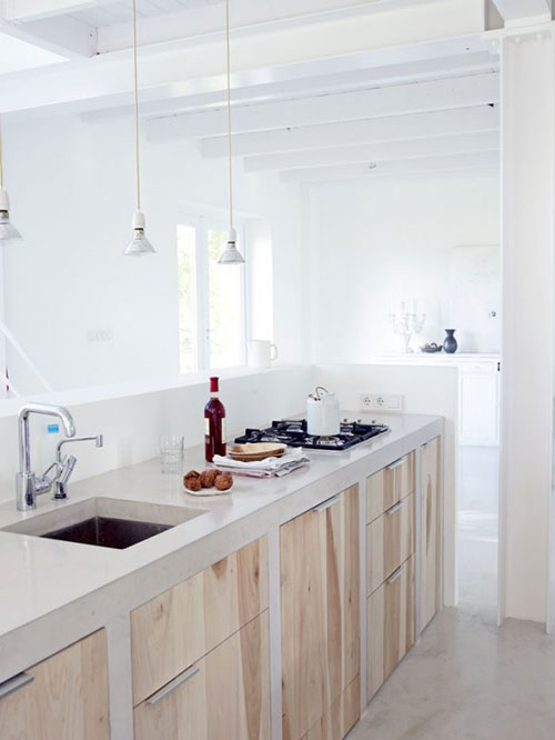 Keuken Steigerhout Look : Concrete Kitchen Countertops