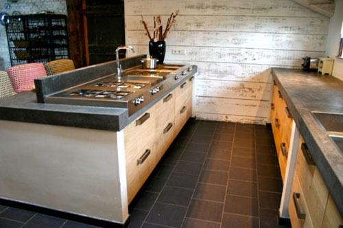 Keuken Steigerhout Beton : Eikenhouten Keuken Ikea Met Betonnen Blad Pictures