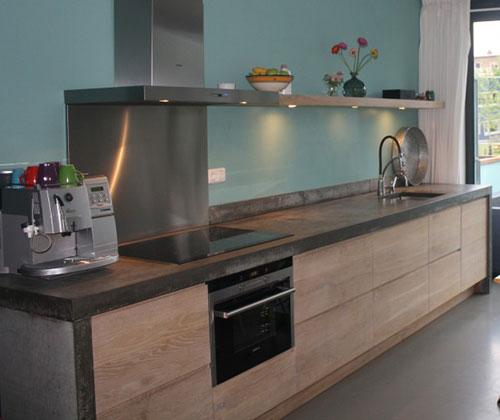 Keuken Steigerhout Wit : Een veel gekozen combinatie voor een keuken: houten deurkasten en