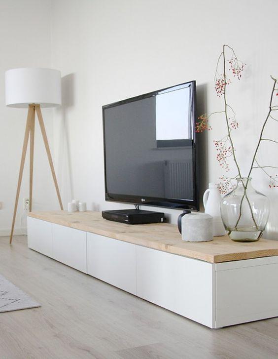 Zwevende Wandkast Ikea.Houten Planken Voor Ikea Besta Kasten Meteen Mooier Interieur