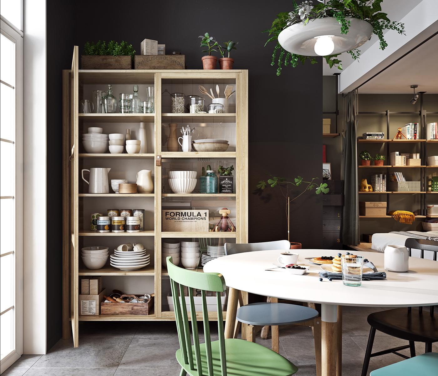 houten-servieskast-keuken