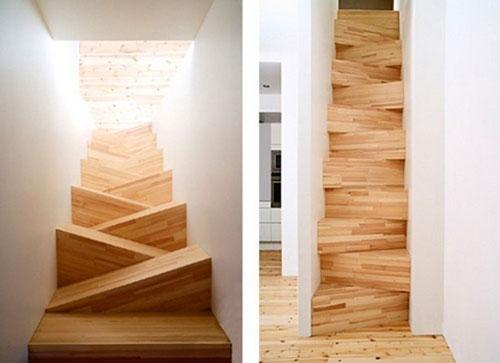 Houten trap interieur inrichting - Interieur houten trap ...