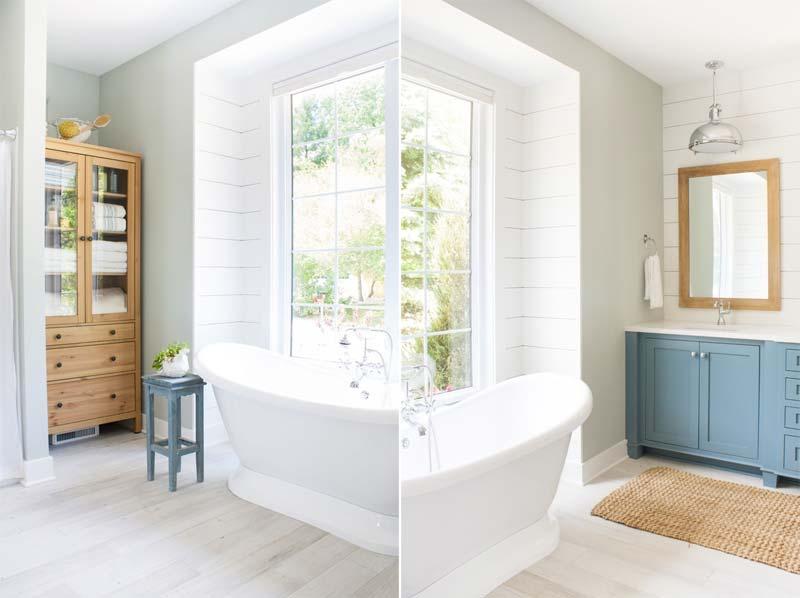 houten vitrinekast badkamer