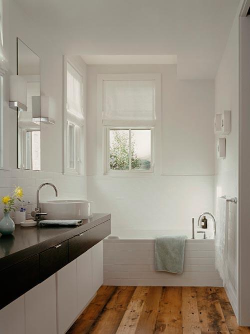 Goede Houten vloer in badkamer – Interieur inrichting GJ-79