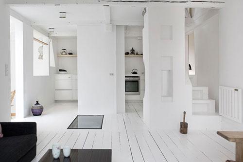 Houten vloer wit schilderen : Interieur inrichting
