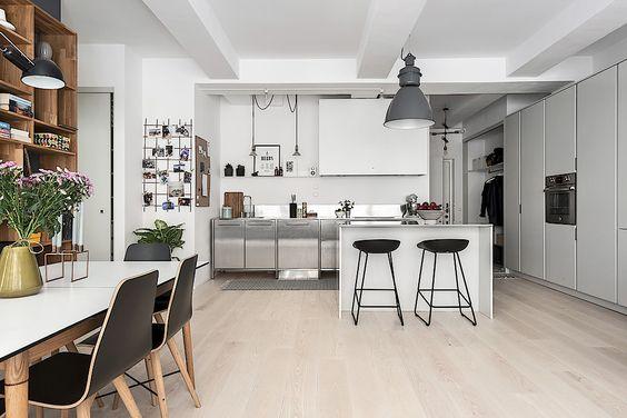 Woonkamer houten vloer interieur inrichting