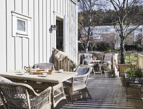 Houten vlonders op veranda