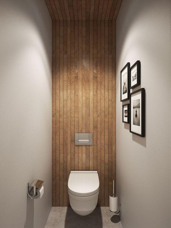 Houten wandbekleding interieur inrichting - Wandbekleding voor wc ...