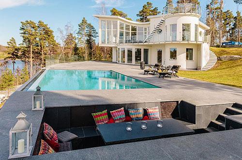 Huizen met zwembad interieur inrichting - Zwembad huis ...