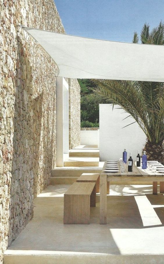Ibiza tuin schaduwdoek