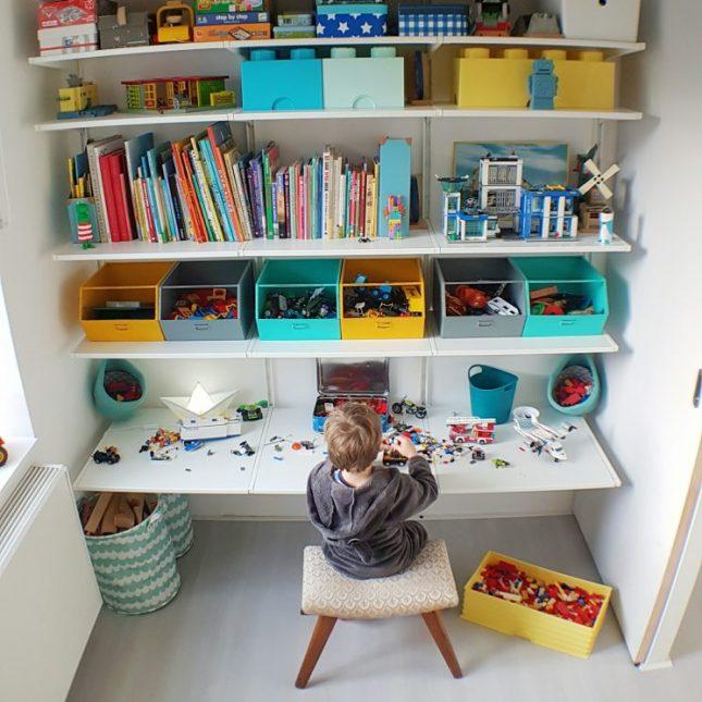 Speelgoed opbergen met IKEA ALGOT wandsysteem