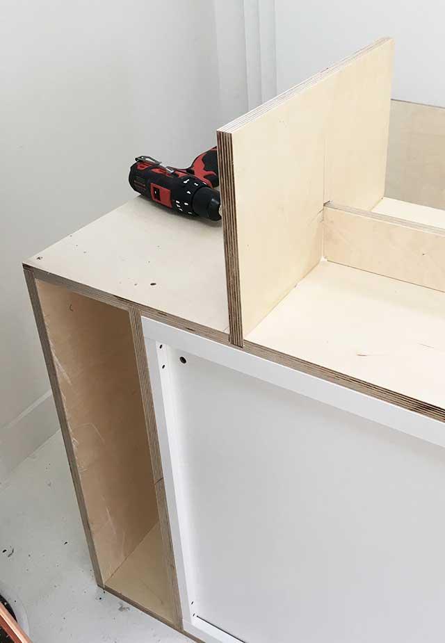 IKEA hack #2 - IKEA Besta x multiplex ombouw