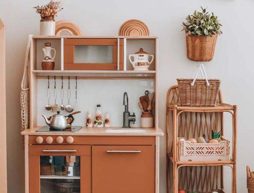 ikea keukentje pimpen terracotta