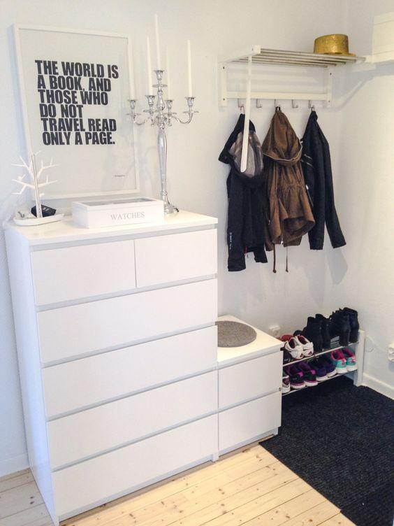 Ikea malm ladekasten interieur inrichting - Flurgarderobe ikea ...