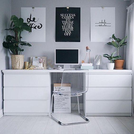 IKEA Malm ladekasten als bureau