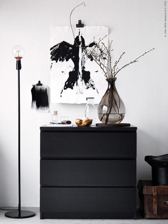 IKEA Malm ladekasten zwart