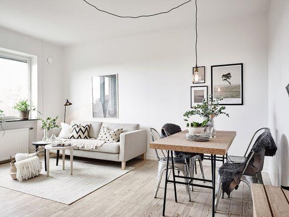 Industri le tafel ikea interieur inrichting - Piso pequeno estilo nordico ...