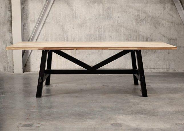 Grenen Tafelblad Ikea.Industriele Tafel Ikea Interieur Inrichting