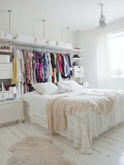 ikea stolmen inloopkast achter bed