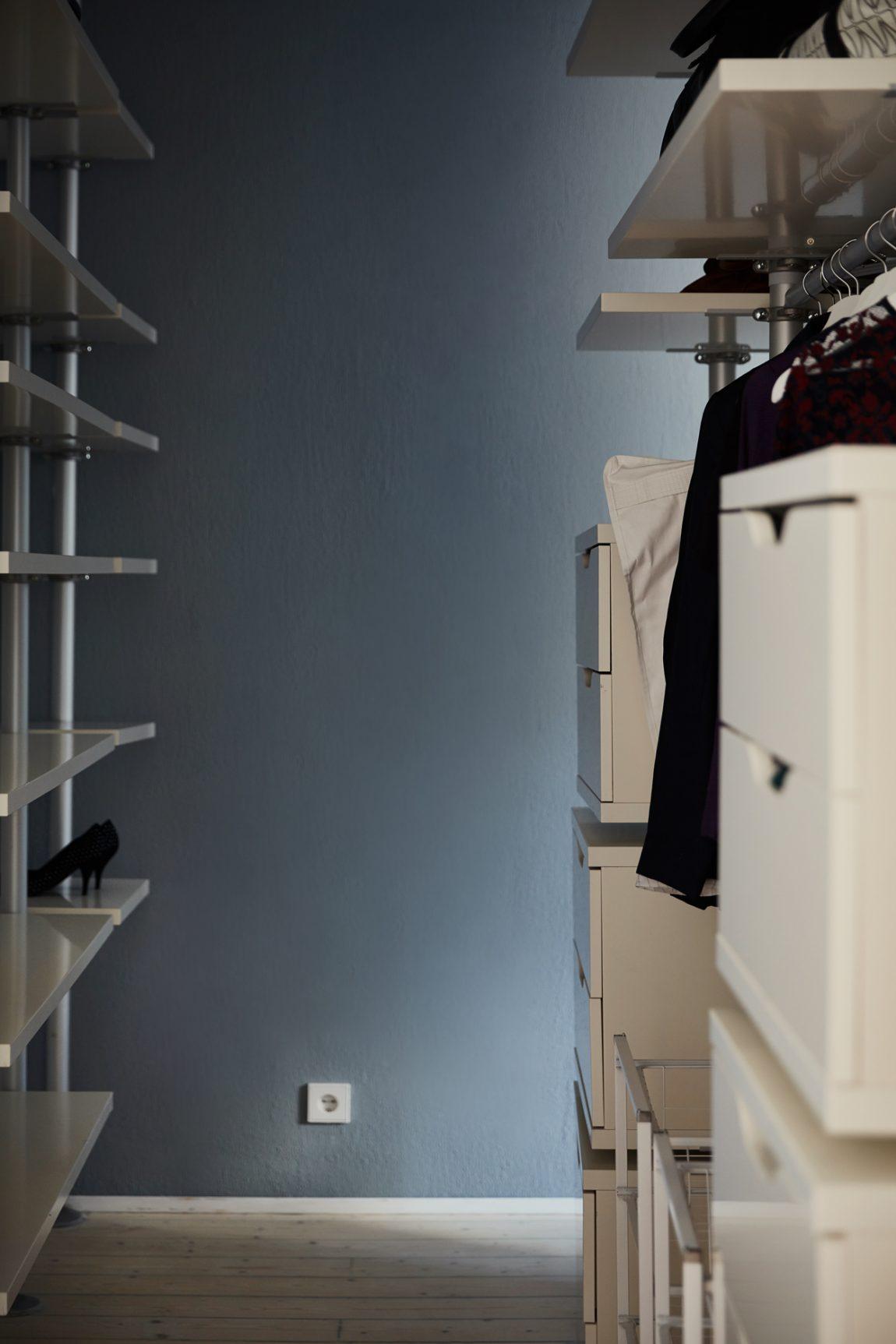 ikea stolmen inloopkast slaapkamer