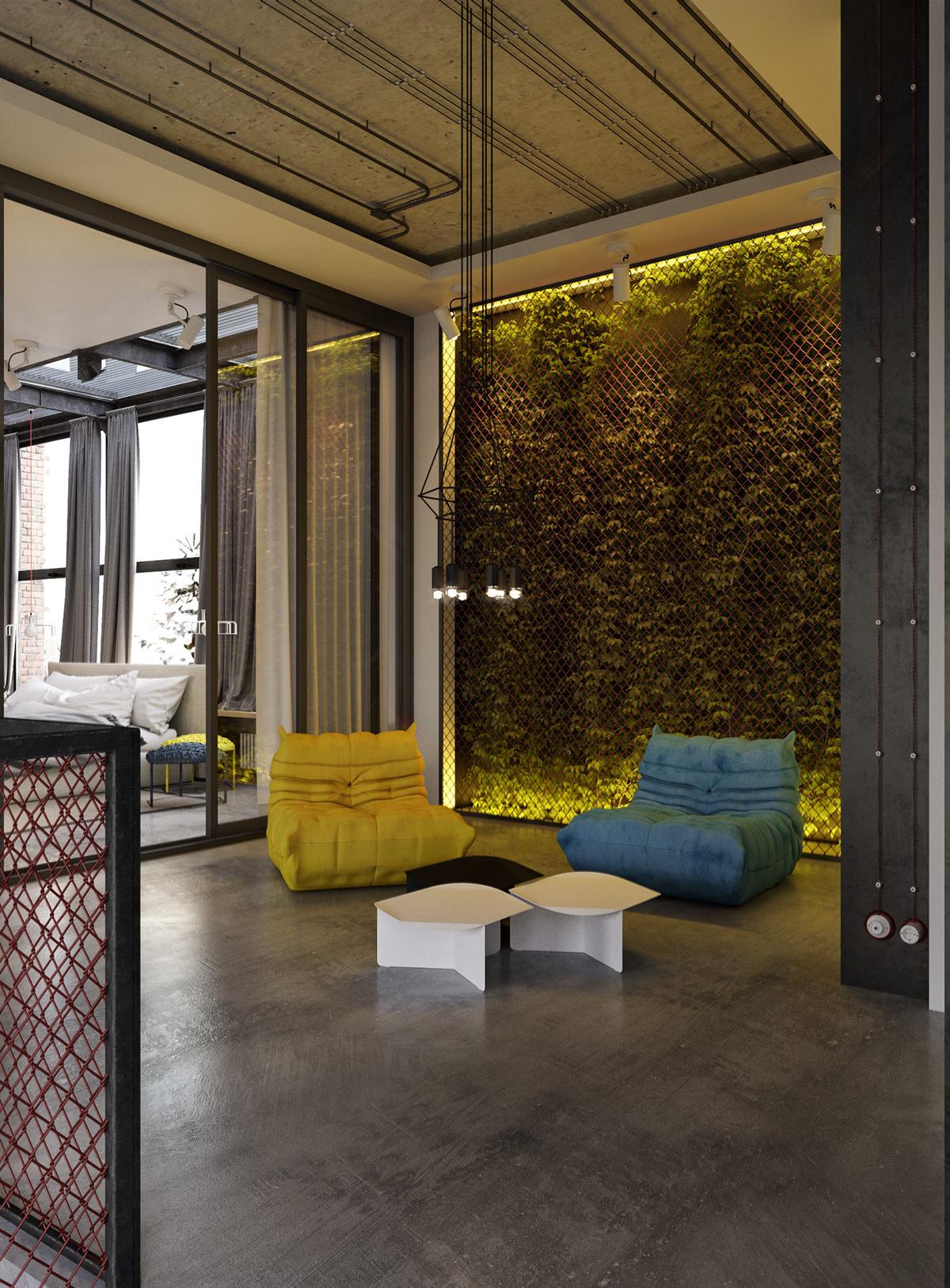 In dit loft appartement gaan luxe en industrieel samen for Loft appartement