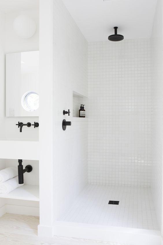 Inbouwkraan badkamer