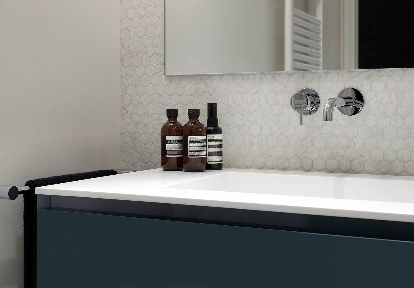Chique ontwerp voor een kleine badkamer van 5m2 interieur inrichting - Kleine badkamer m ...