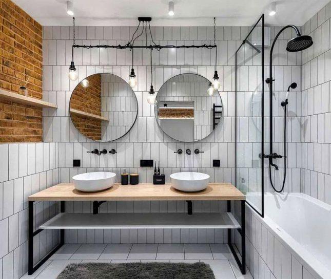 Industrieel badkamer ontwerp