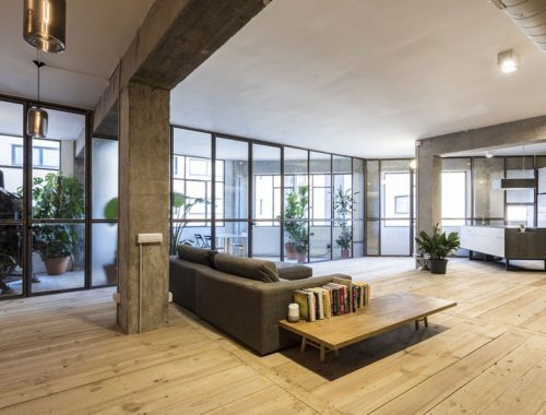 Industrieel loft appartement van 180m2 in Barcelona