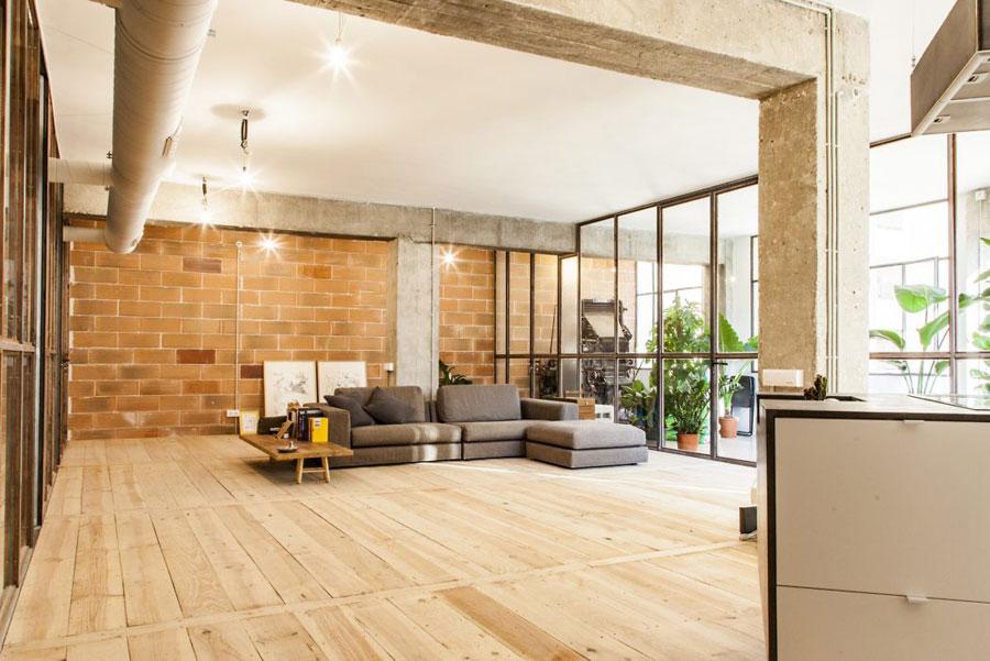 Industrieel loft appartement van 180m2 in Barcelona