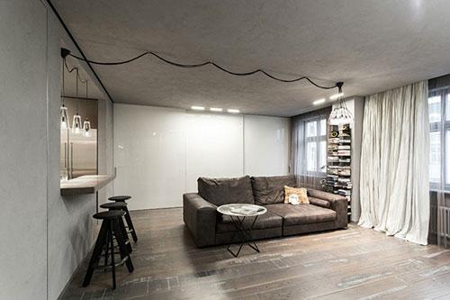 Industriele Inrichting Woonkamer : Industrieel stoere woonkamer interieur inrichting