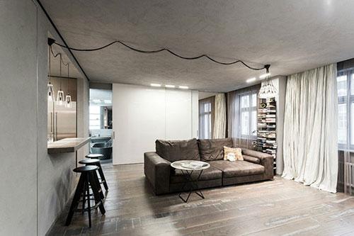 Industrieel stoere woonkamer | Interieur inrichting
