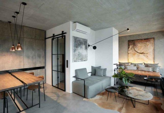 Industriele Interieur Inrichting : Industrieel warm ingericht loft appartement interieur inrichting