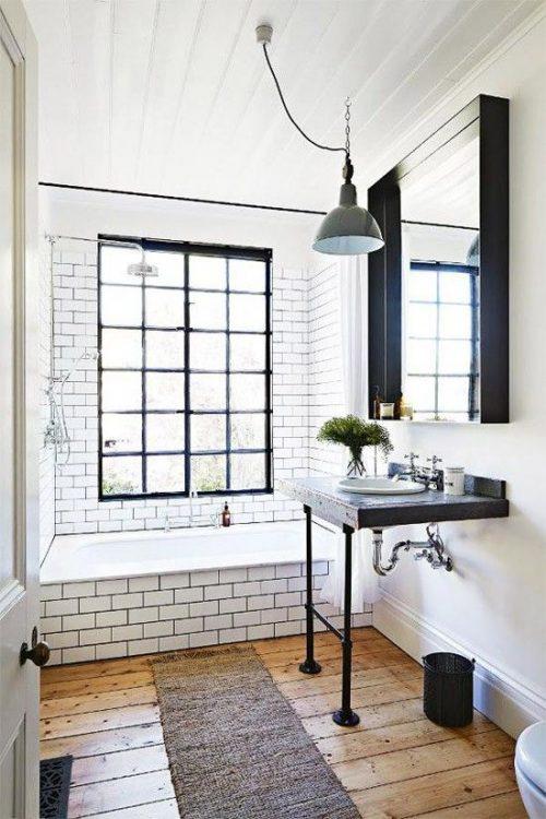 industriele badkamers voorbeelden industriële details