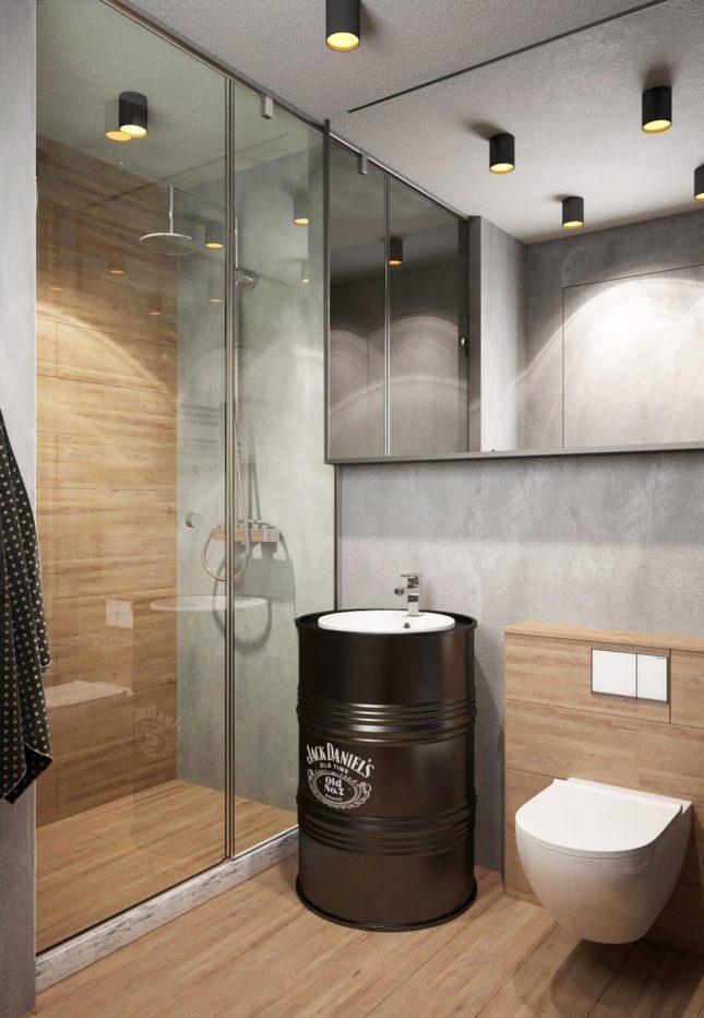 industriele badkamers voorbeelden industriële ton wastafel