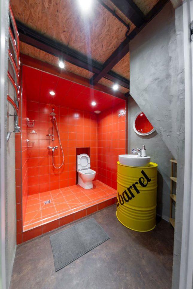 industriele badkamers voorbeelden stoer