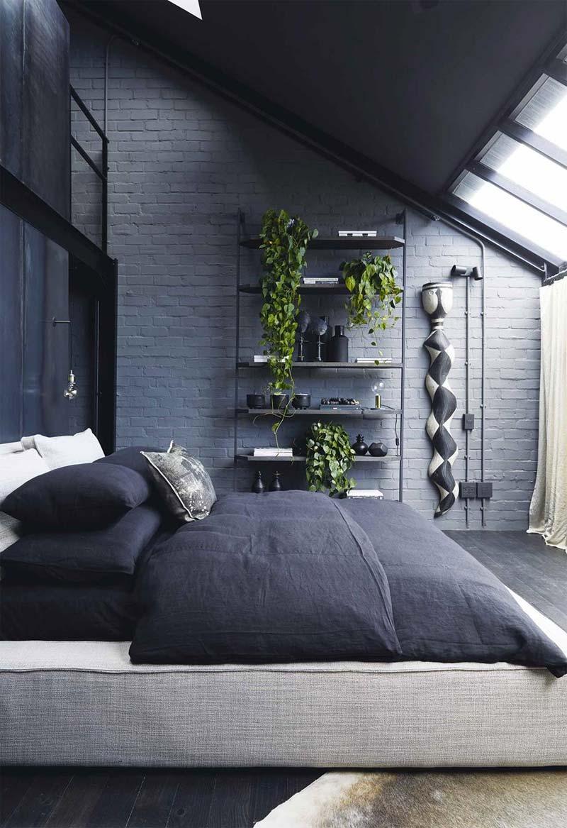 industriele kast in slaapkamer