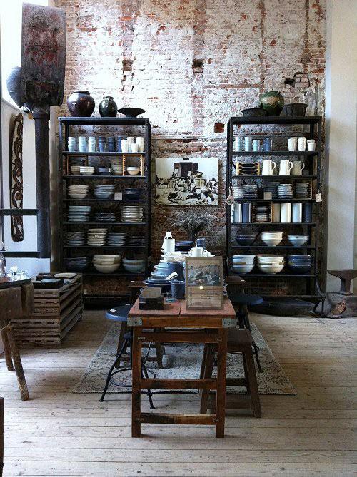Industri le kasten interieur inrichting - Deco oude keuken ...