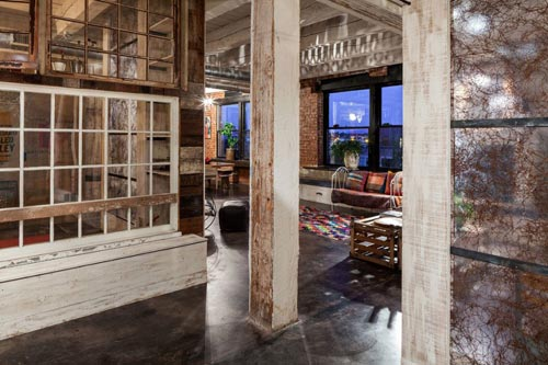Industrial loft met bohemian sfeer interieur inrichting for Industriele loft