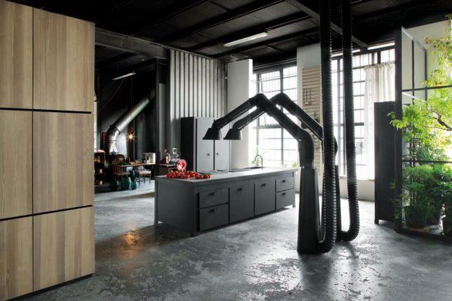Industriële loft uit Milaan