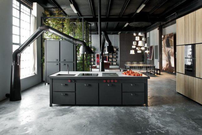 Industri le loft uit milaan interieur inrichting - Keuken industriele loft ...