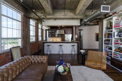 Industriële woonkamer inrichten