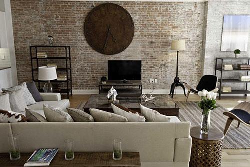 Industri u00eble woonkamer inrichten   Interieur inrichting