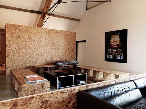 Industri le woonkamer van vervallen boerderij interieur inrichting - Fotos van woonkamer meubels ...