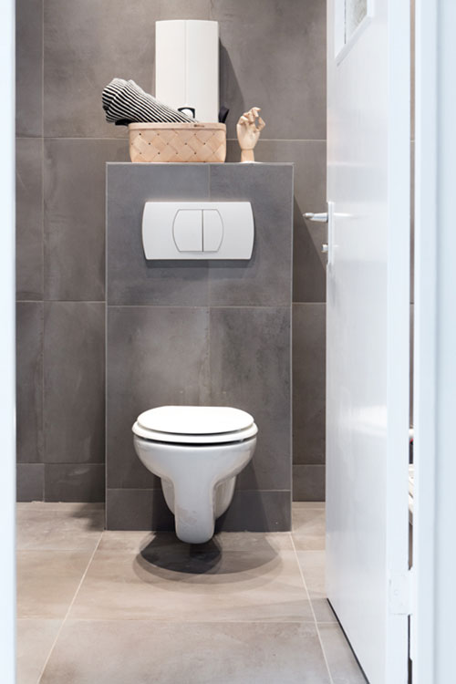 Inrichting van een klein minimalistisch appartement interieur inrichting - Inrichting van toiletten wc ...