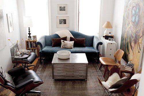 Inrichting kleine woonkamer van Jordan