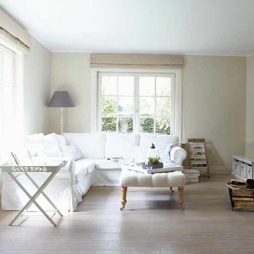 Inrichting woonkamer met hoekbank