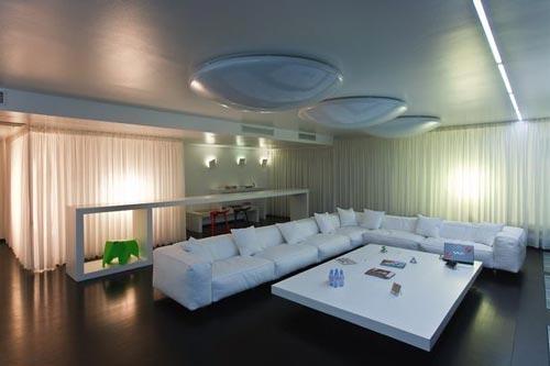 Inrichting woonkamer met hoekbank  Interieur inrichting